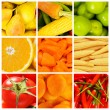 Set of various food items — Stockfoto