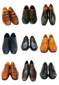Various shoes isolated on the white — 图库照片