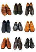 孤立在白色的各种鞋 — 图库照片