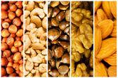 选择的各种不同的食物背景 — 图库照片