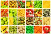 Set di vari frutti e verdure — Foto Stock