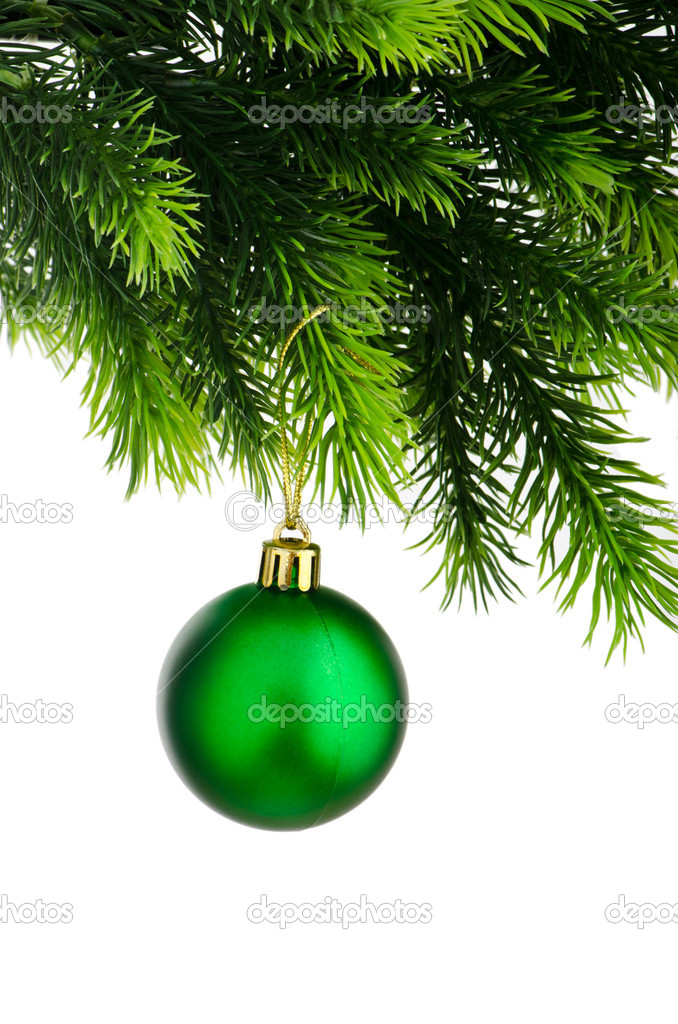 Christmas concept with baubles on white — Stock Photo #7968682