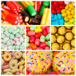 Collage of various sweets — Stock Photo #8111195