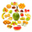 Circle with lots of food items — Stock Photo #8111363