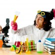 Student working in the chemical lab — Stock Photo #8111788