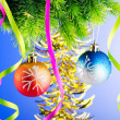 Baubles on christmas tree in celebration concept — Stock Photo #8112261