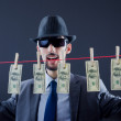 Criminal laundering dirty money — Stock Photo #8112270