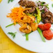 Plate with tasty lamp kebabs - Lizenzfreies Foto