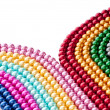 Abstract with colourful pearl necklaces — Stock Photo