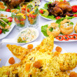 Table served with tasty meals — Stock Photo #8116381