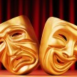 Masks with the theatre concept — Stock Photo #8116384