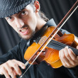 Fiddler playing the violin — Stock Photo #8116676