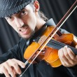 Stock Photo: Fiddler playing the violin