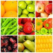 Uppsättning av olika livsmedel — Stockfoto