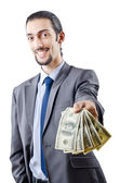 Businessman with american dollars — Stock Photo