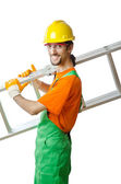 Builder isolated on the white — Stock Photo