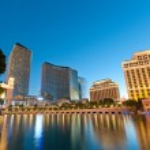 Las Vegas - 11 Sep 2010 - Bellagio Hotel Casino during sunset — Stock Photo