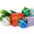 Christmas decoration on white background - Stok fotoraf