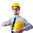 Construction safety concept with builder — Stock Photo #8124292