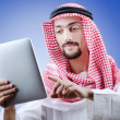 Young arab with tablet computer — Stock Photo #8124545