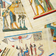 Egyptian history concept with papyrus — Foto Stock