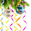 Holiday christmas decoration on white — Stock fotografie