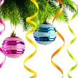 Holiday christmas decoration on white — Stock Photo #8126150