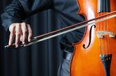 Man playing the cello — Stock Photo