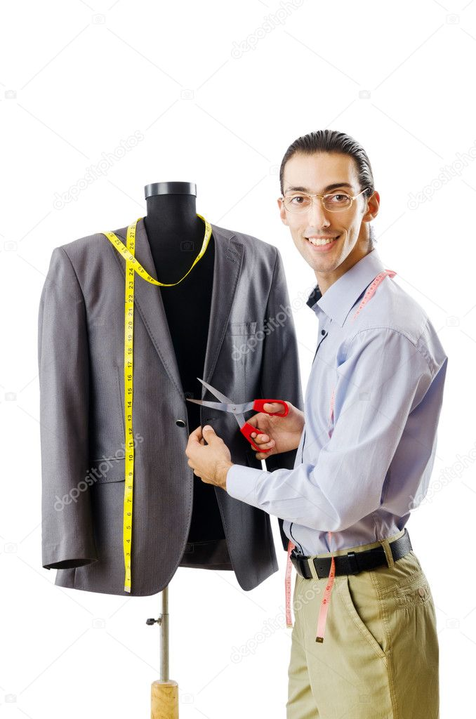 Tailor working isolated on white  Stock Photo #8124782