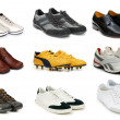 Various shoes isolated on the white — Foto de Stock