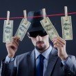 Criminal laundering dirty money — Stock Photo #8745616