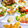 Table served with tasty meals — Stock Photo #8749123