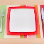 Food utensils on the mat — Stock Photo #8756212