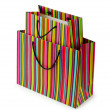 Shopping concept with bag on white — Lizenzfreies Foto