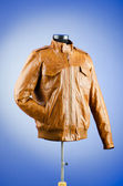Brown leather jacket in fashion concept — Foto de Stock