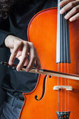 Man playing the cello — Stock Photo