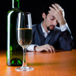 Msuffering from alcohol abuse — Stock Photo #8761417