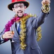 Magiciin business suit — Stock Photo #8761799