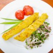 Stock Photo: Traditional azeri kebab made with mashed potato