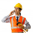 Young construction worker with hard hat — Stock Photo #8769434