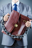 Arrested businessman in crime concept — Stock Photo