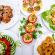 Table served with tasty meals — Stock Photo #8771578