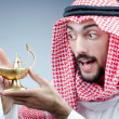 Stock Photo: Arab and ancient golden lamp