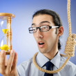 Stock Photo: Mwith noose around his neck