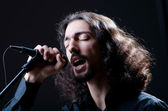 Man singing at the concert — Stock Photo