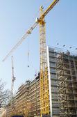 Construction crane on the site — Stock Photo