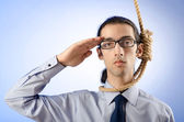 Businessman ready to commit suicide — Stock Photo