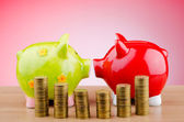 Piggy bank in business concept — Stock Photo