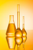 Chemical laboratory and tubing — Stock Photo