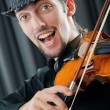 Violin player playing the intstrument — Stock Photo